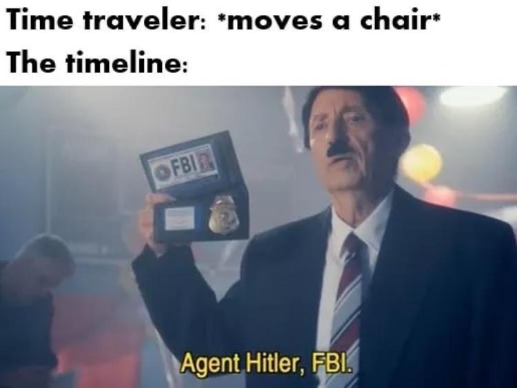 time travel - meme