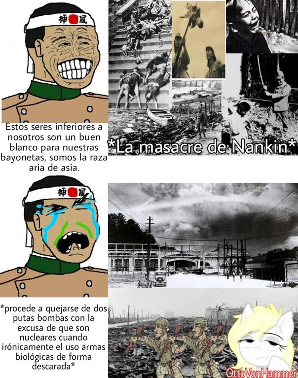 Japoneses en la WW2 in a Nutshell - meme