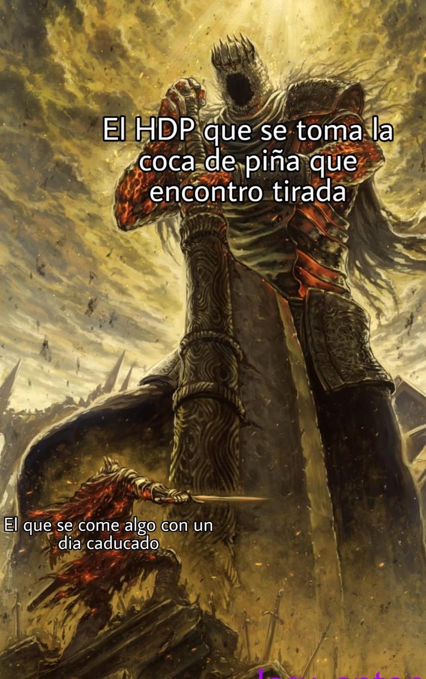 Coca de piña  meme muerto
