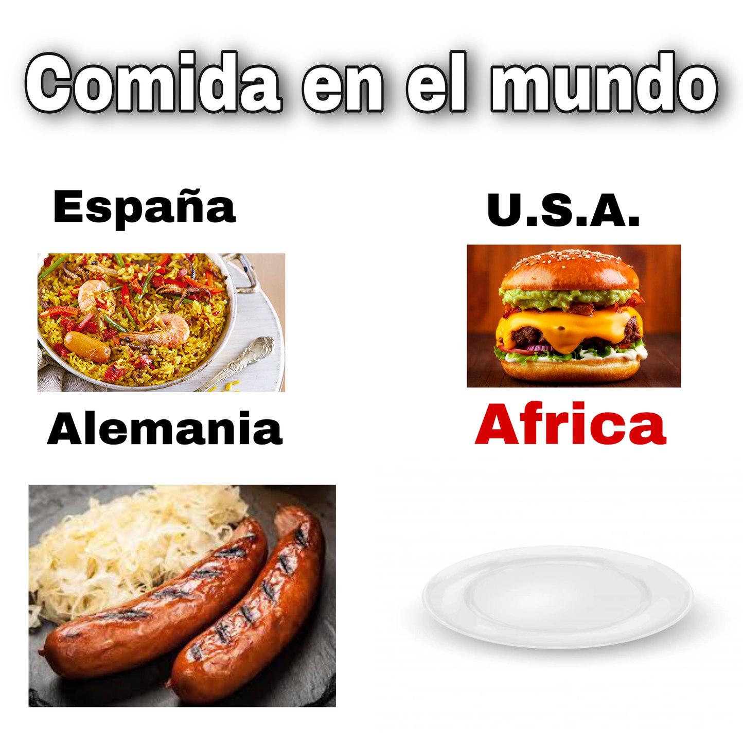 Comida en el mundo - meme