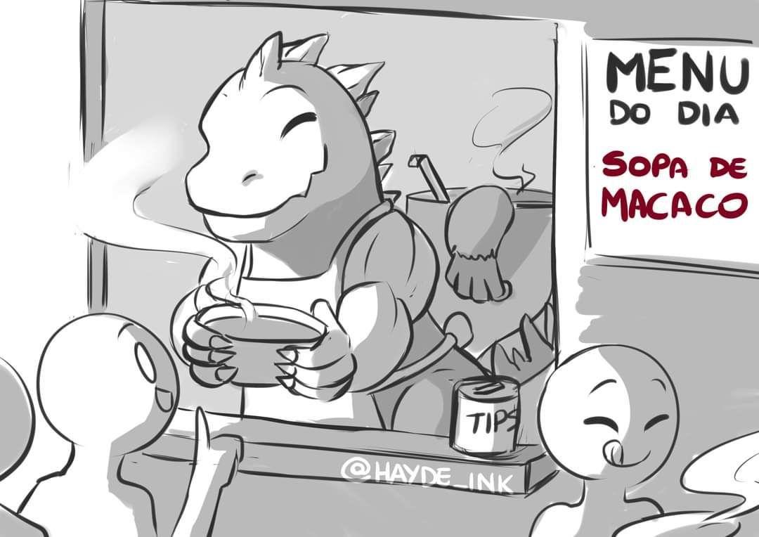 Sopa de mamaco humm - meme