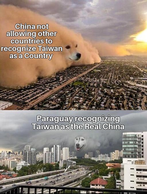 Taiwan is the real China - meme