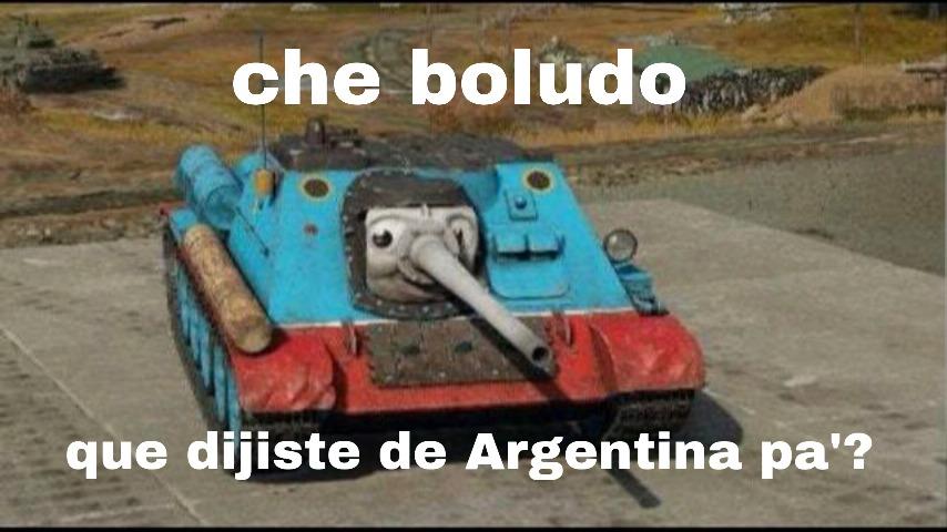 Thomas la locomotora argentina - meme