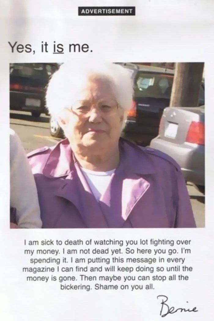 Ruthless Grandma - meme