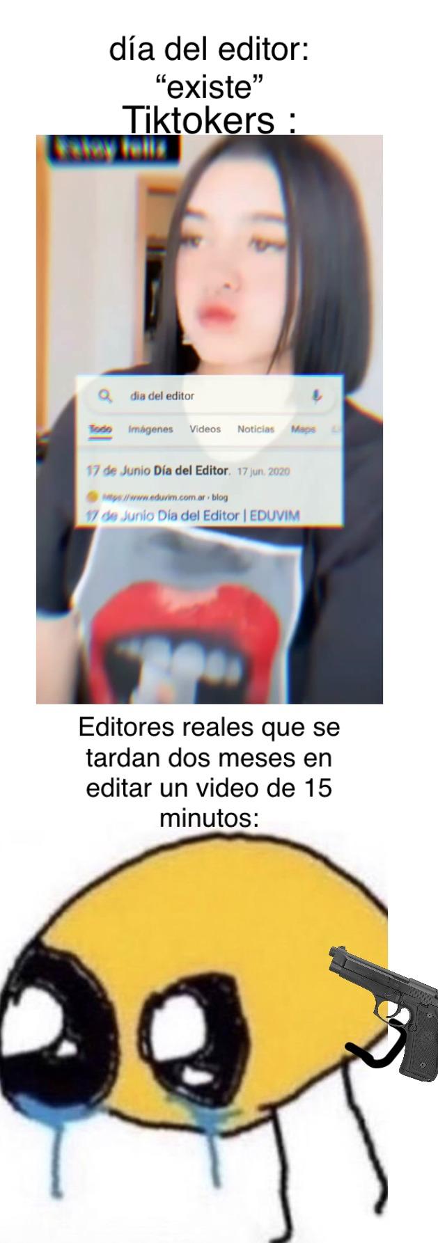 pobres editores reales :c - meme