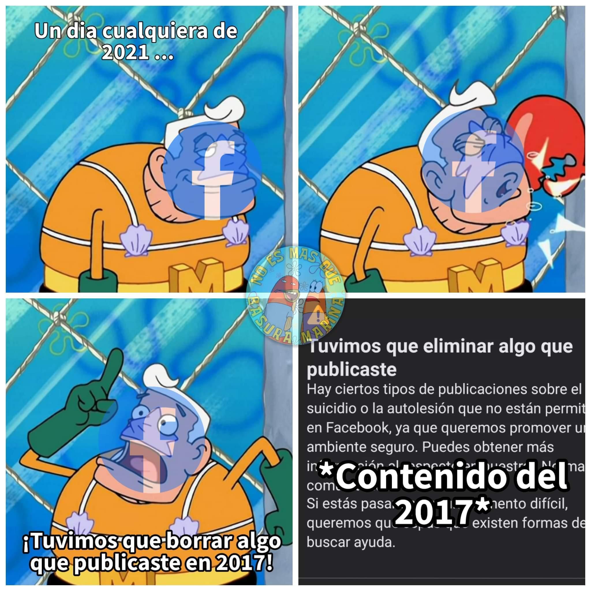 facebook me cerro mis cuentas por rebelde - meme