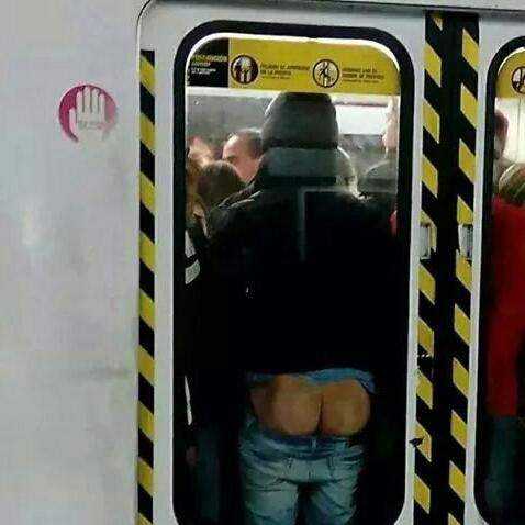 Yo en el metro - meme