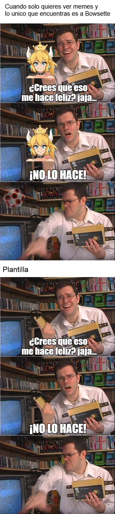 Otro meme de Bowsette + una plantilla que quiza nadie use