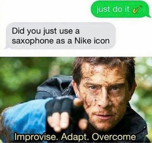 Saxophone or Nike icon? - meme