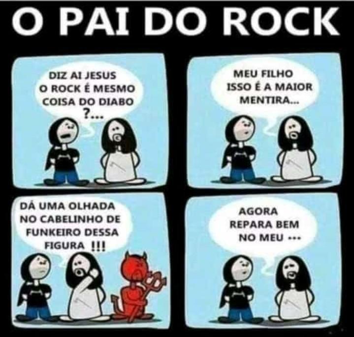 Glória ao rock - meme