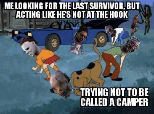 I get called a camper too often. - meme