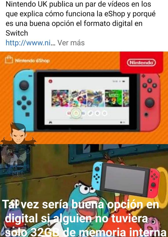 Si se la mama luego Nintendo - meme