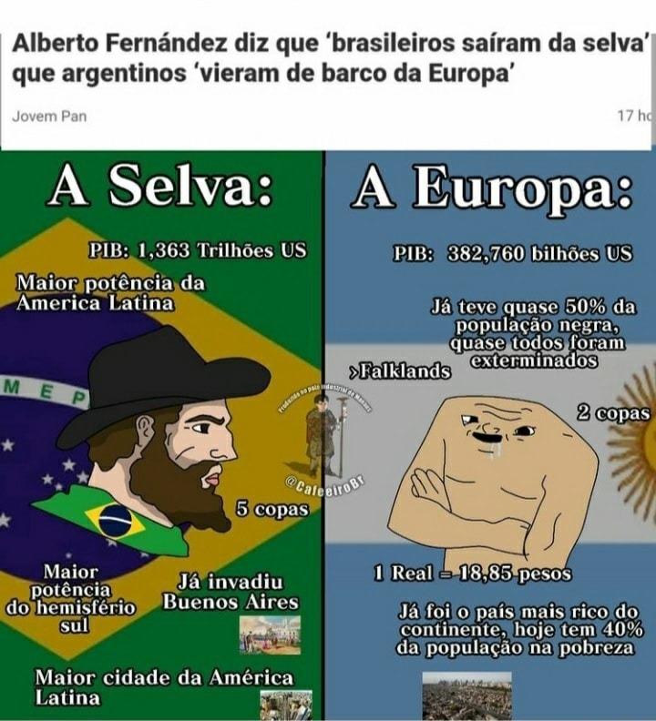 Argentina, raza pura - meme
