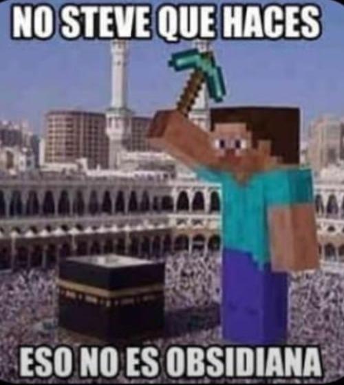 Jaja Steve goes boom - meme