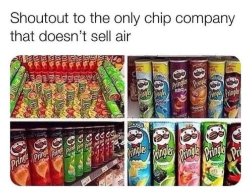 Pringles are the best tho - meme