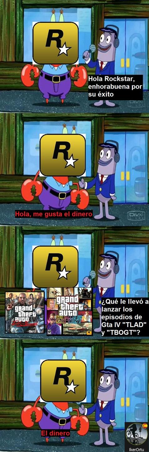 A Rockstar le gusta el dinero, pero sus juegos son buenos - meme