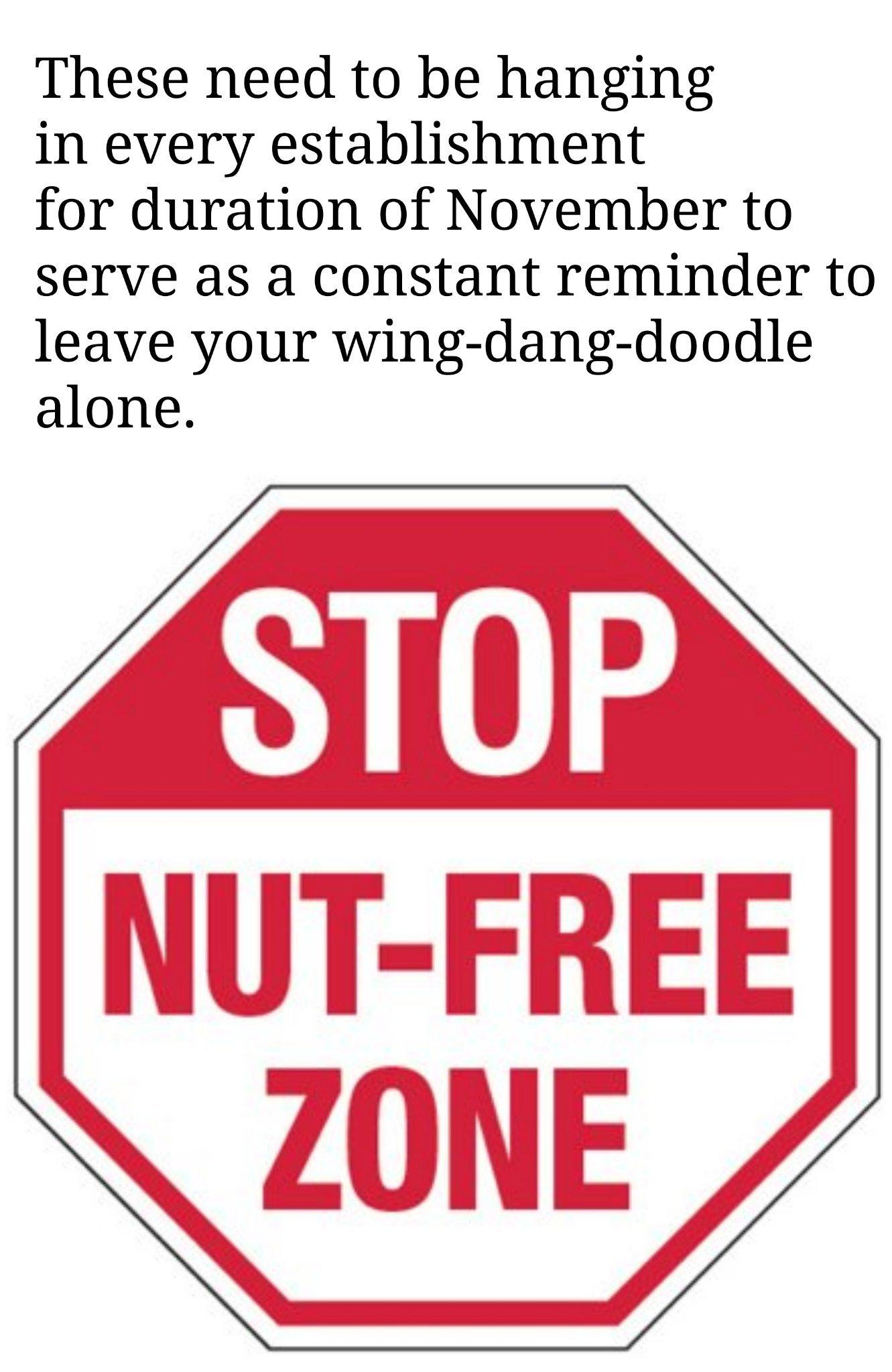 No nut in public - meme