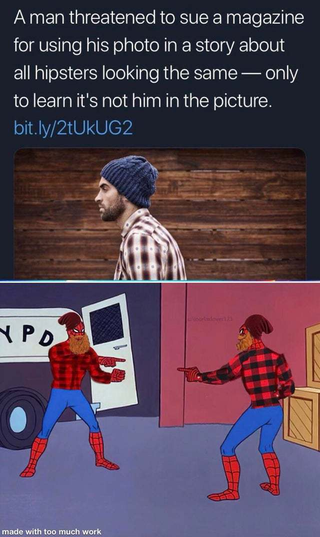 All hipsters are the same - meme