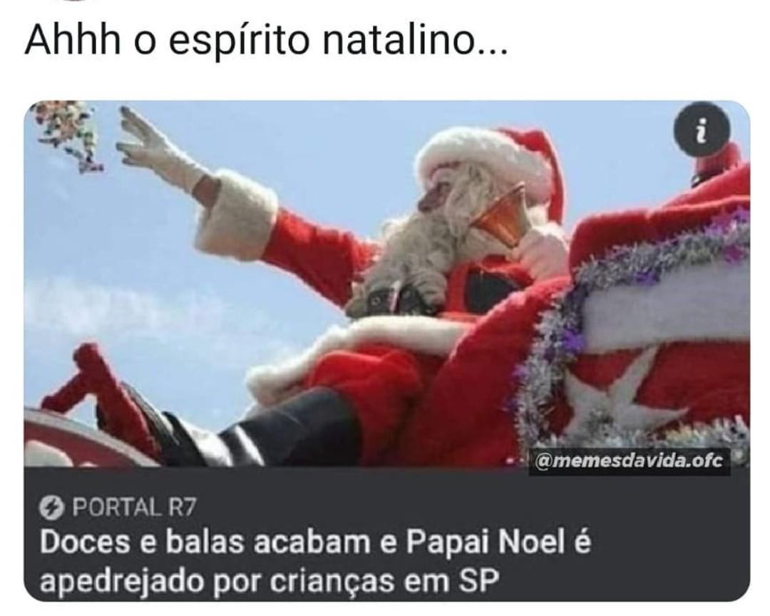 Aquele espírito natalino de bosta - meme