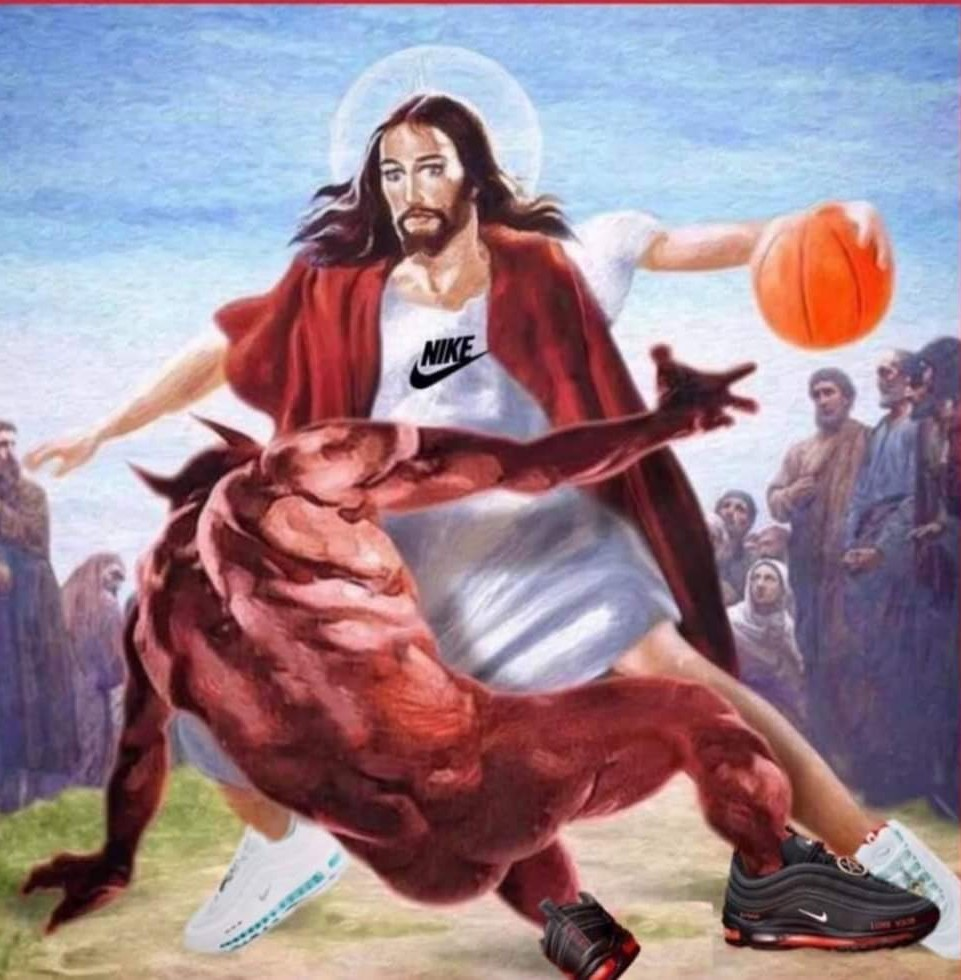 The Lord be dunking - meme