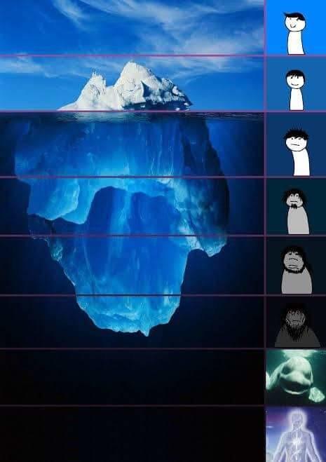 Aqui les dejo una plantilla por si quieren hacer un iceberg sobre algo y quieren compartirlo :derp: - meme