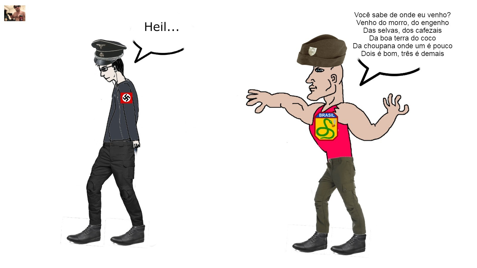 Chad FEB, Virgin Nazis [Original Choris] - meme
