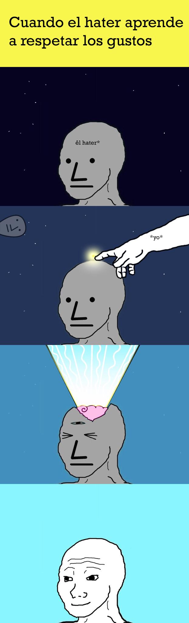 ya hice que 8 haters dejaran de serlo...... de nada mundo - meme
