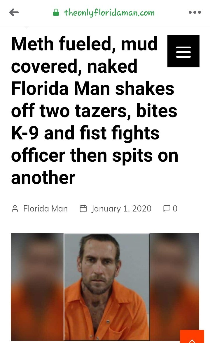 The First Florida Man Headline of 2020 - meme