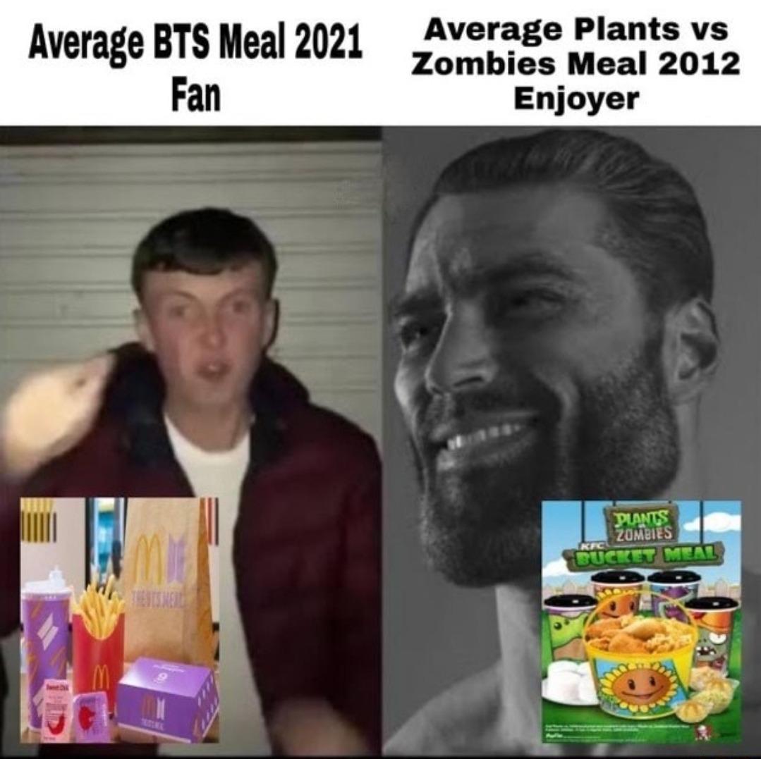 Alpha Plants & Zombies > Beta BTS - meme