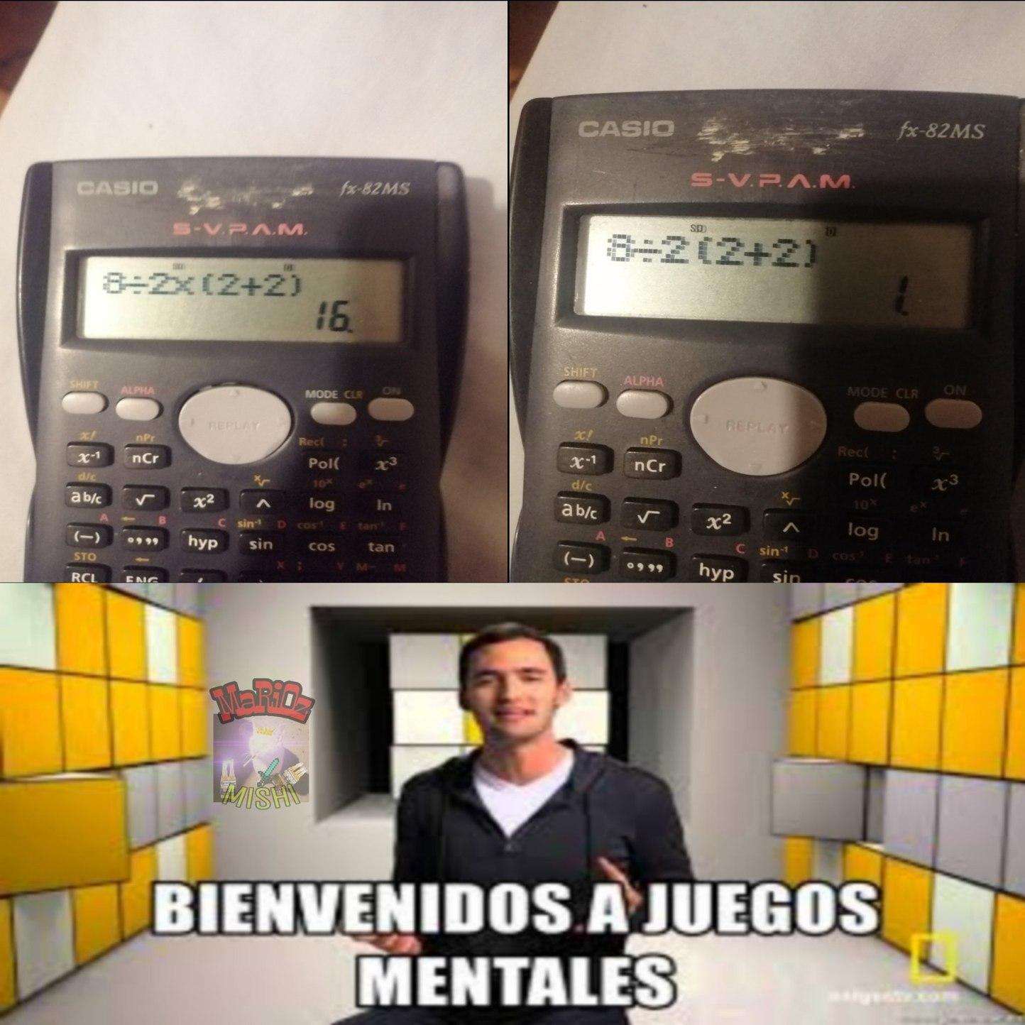 Mis calculadoras - meme