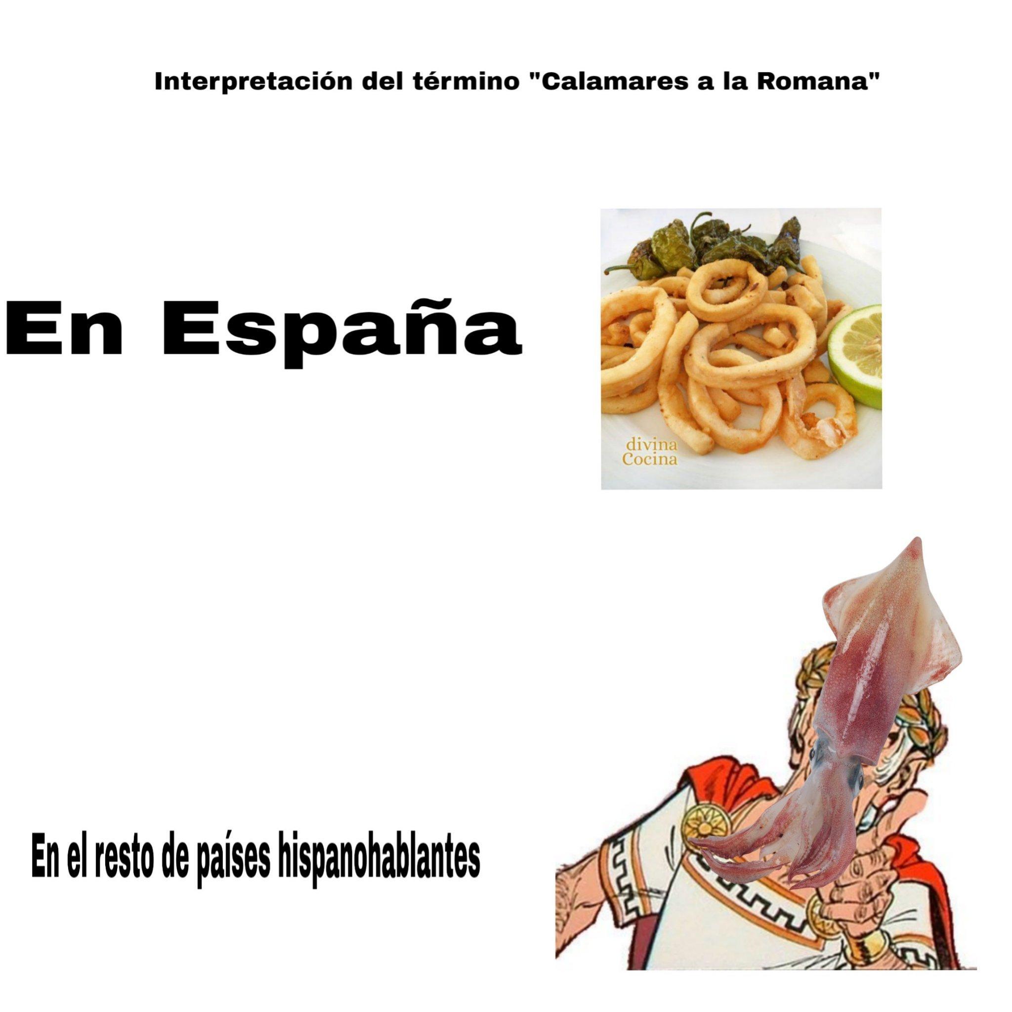 Los Españoles y sus palabrejas - meme