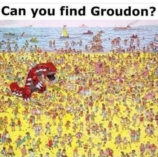 Groudon. - meme