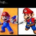 No creen que las armas de Mario lo hacen parecer a Star Lord?