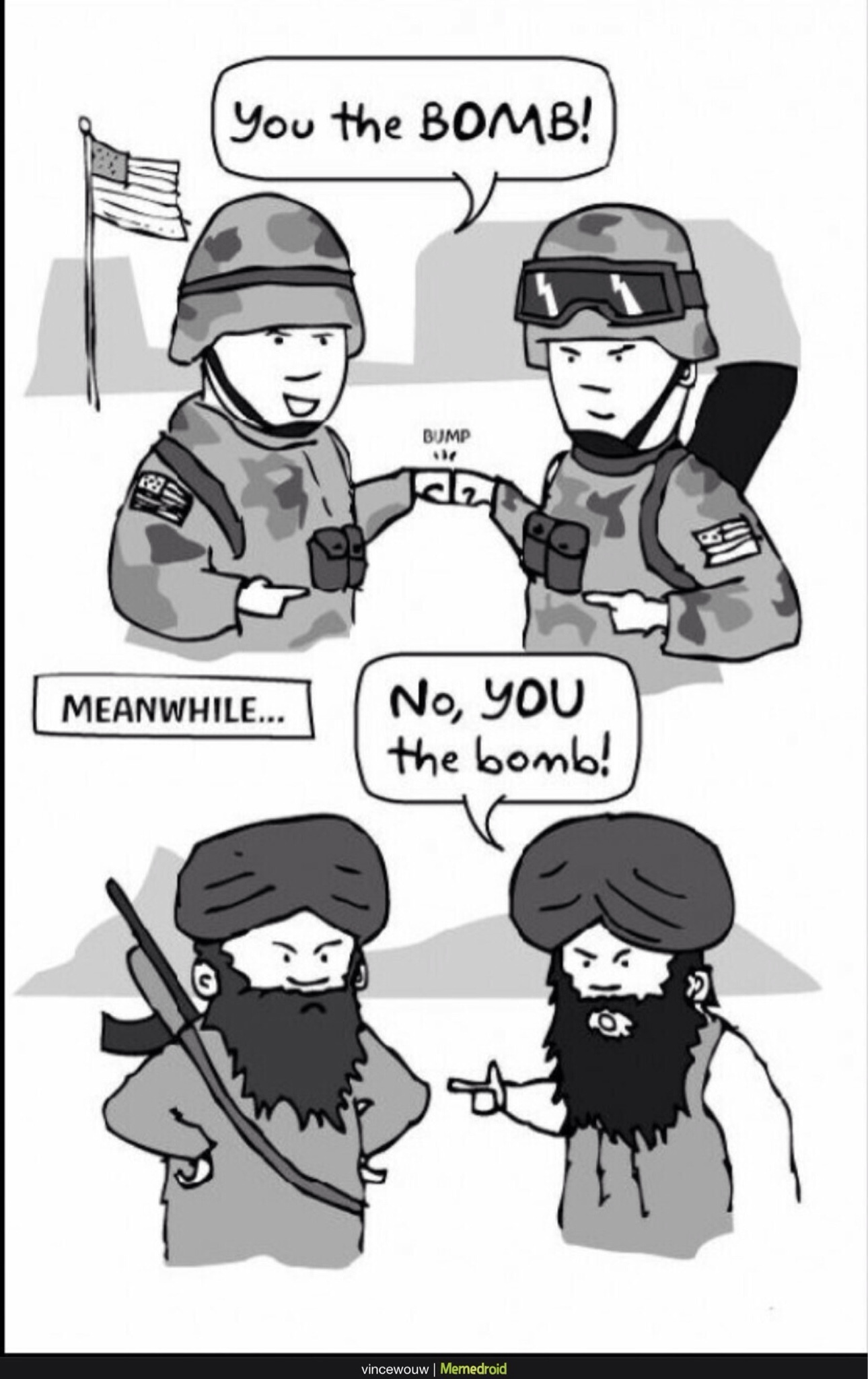 heh suicide bombers are gay - meme