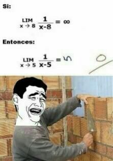 Límites en Matemáticas - meme