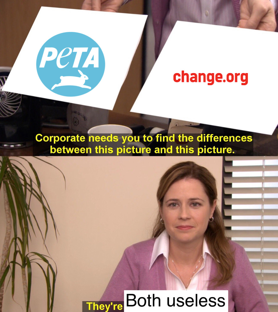 PETA did Steve Irwin like that - meme