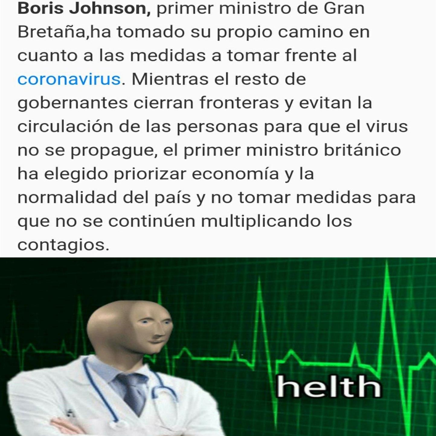 Según el, si deja que todas las personas se contagien ahora, en la próxima época de contagios ya la gente tendrá preparado su sistema inmune - meme