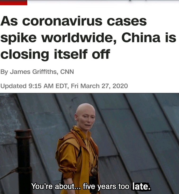 Too late. Like anyone wants to go to China now... - meme