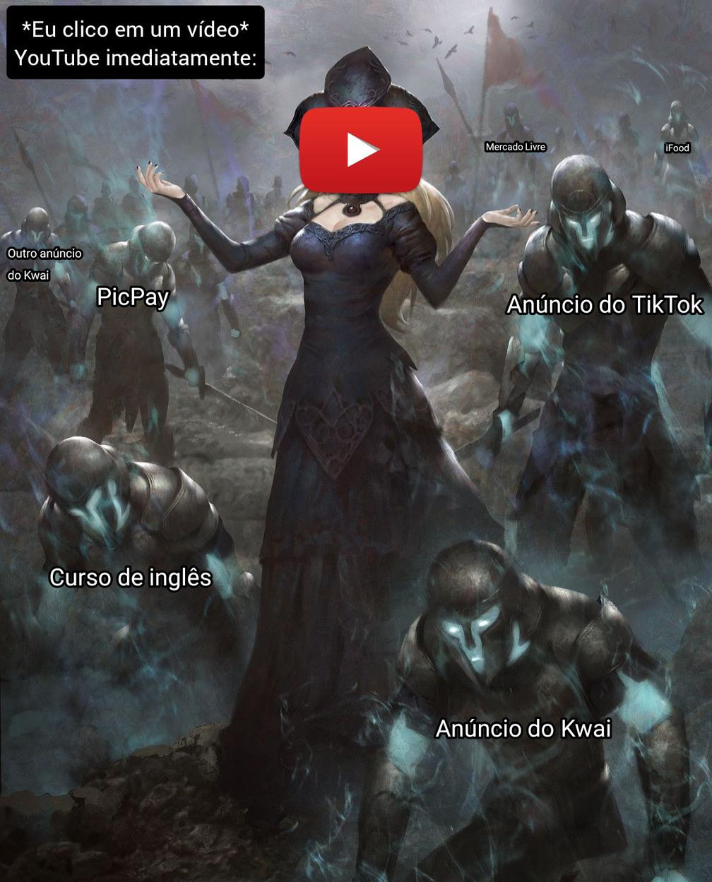 Por que tem um vídeo no anúncio - meme