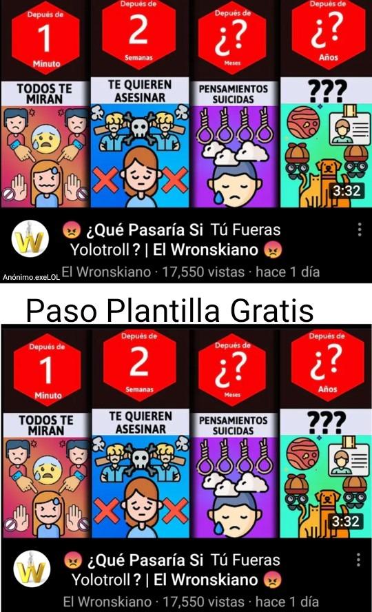 Paso Plantilla Gratis. - meme