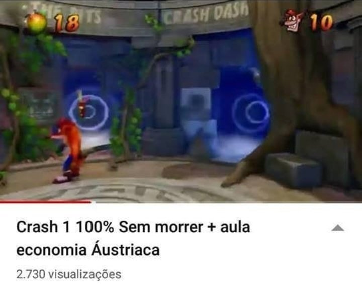 Crash anarcocapitalista - meme