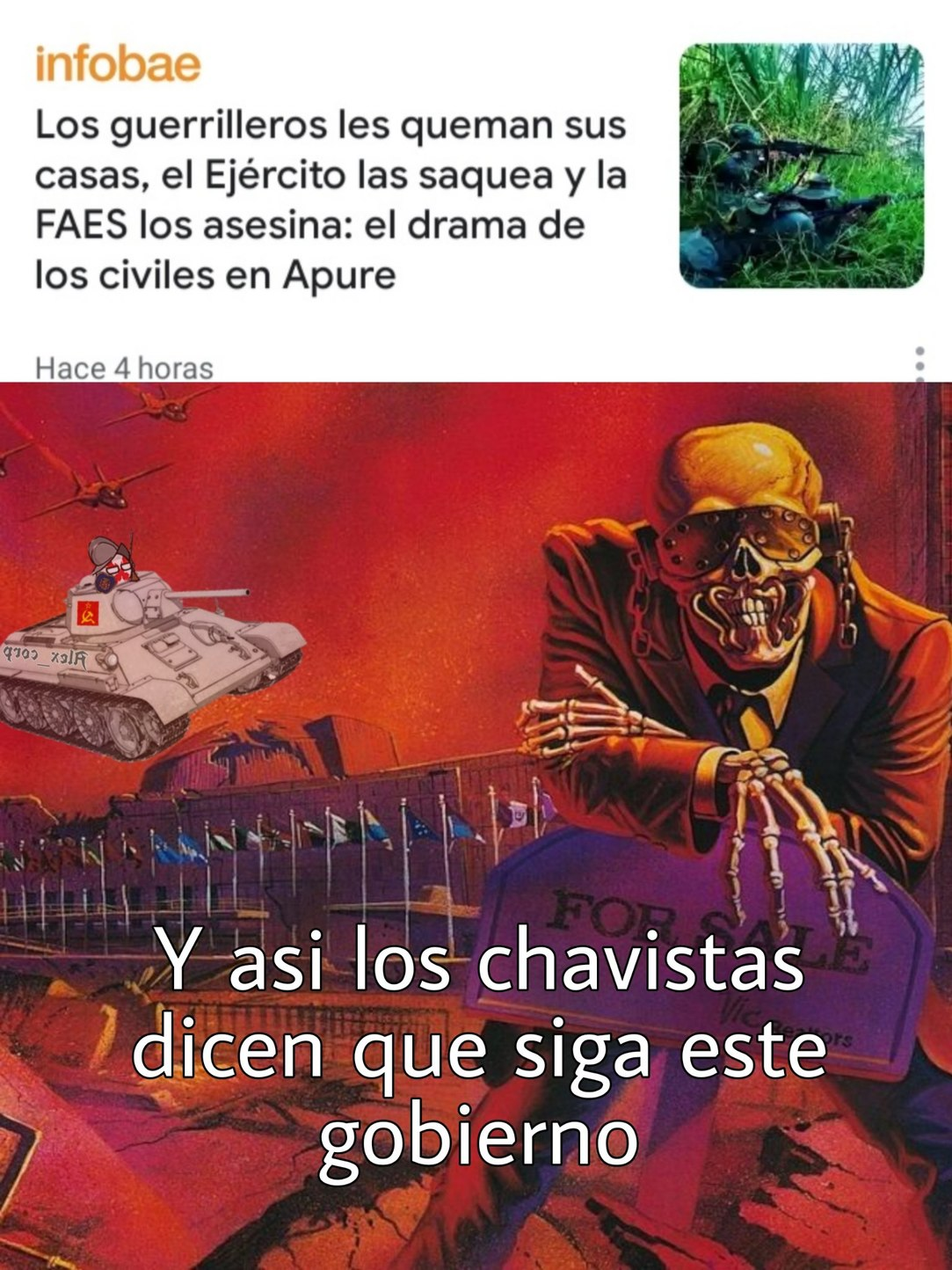 Banda saquenme de Venezuela - meme