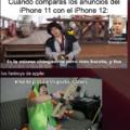 Cuando compraras los anuncios del iPhone 11 con el iPhone 12