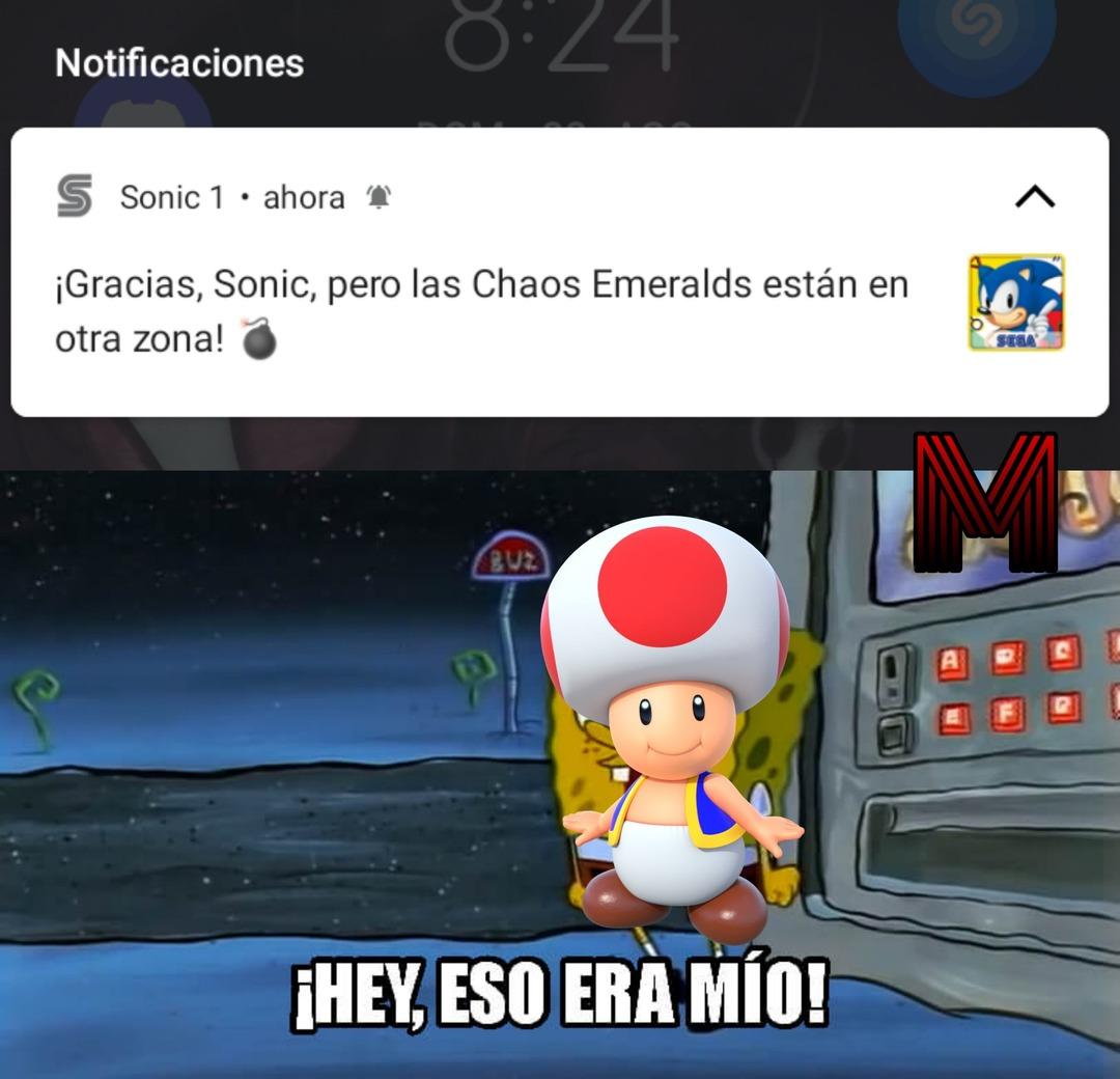 Gracias Mario, pero la princesa está en otro castillo - meme