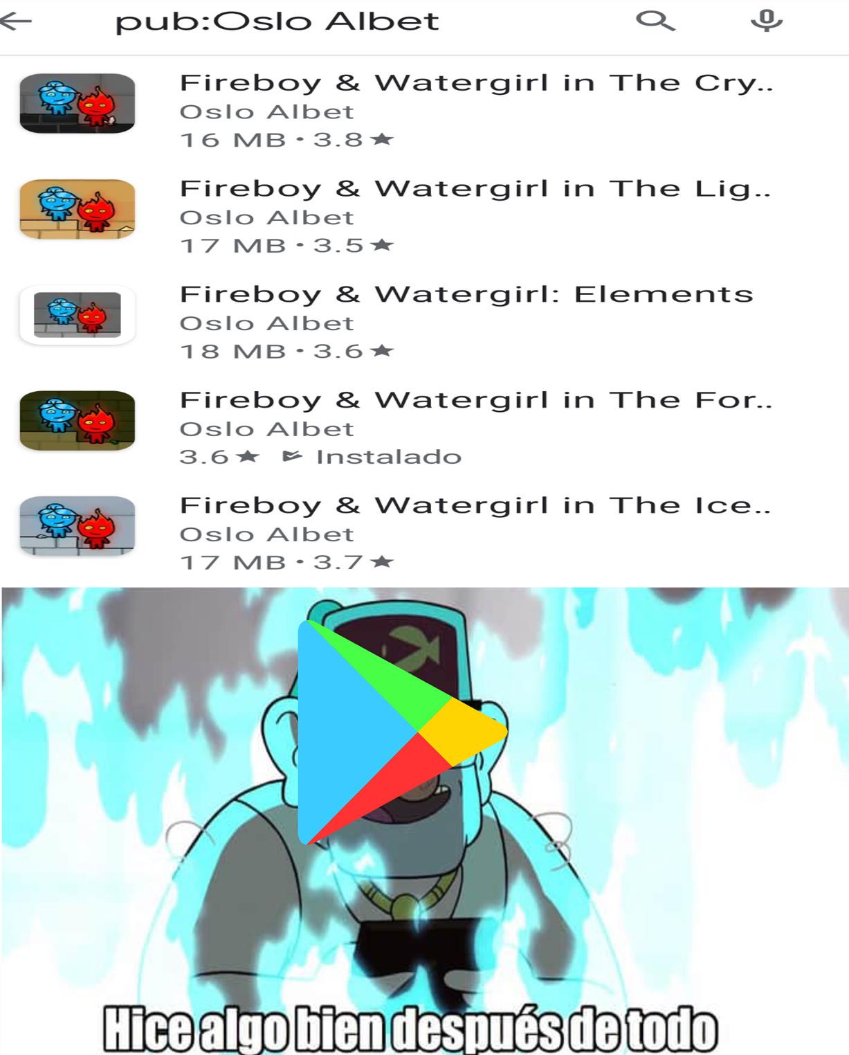 Si Fireboy y watergirl es tu juego favorito,y adobe flash Cierra,ya sabés dónde acudir. - meme