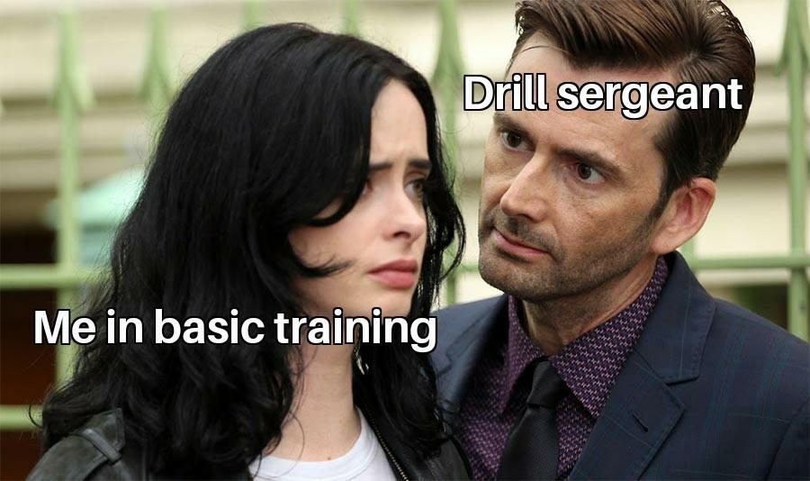 Drill sergeants be like - meme