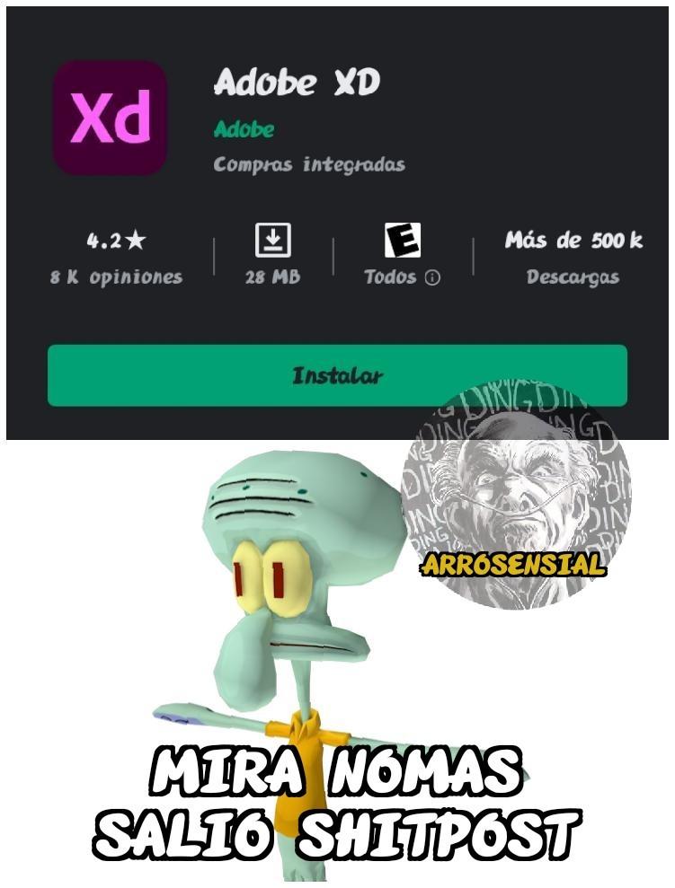 Adobe XD - meme