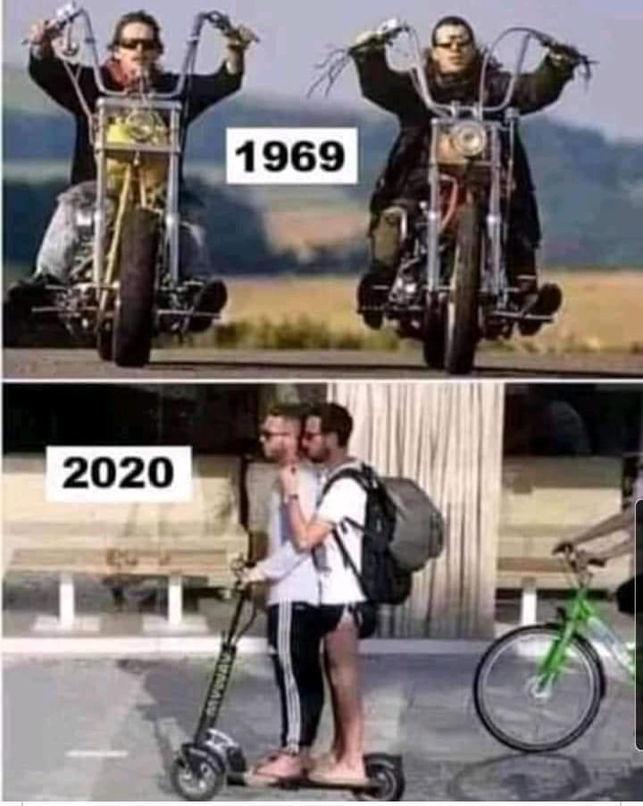 1969 vs 2020 - meme