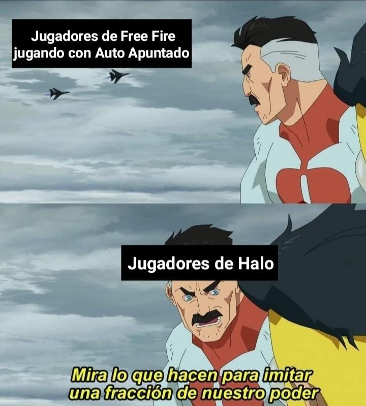 Que asco jugar con Auto Apuntado jajaja, Alabado sea Halo - meme