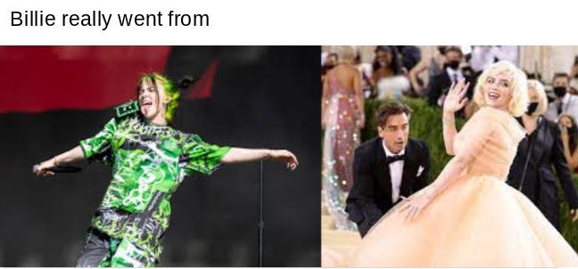 Edgy queen to Marylin Monroe - meme